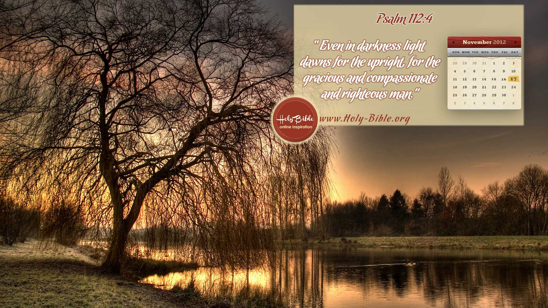 Bible verse of the day Psalm 112:4
