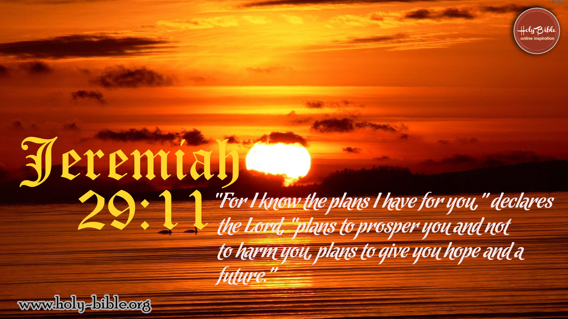 Bible Verse of the day - Jeremiah 29:11