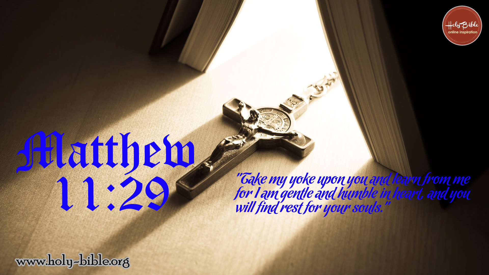 Bible Verse of the day - Matthew 11:29