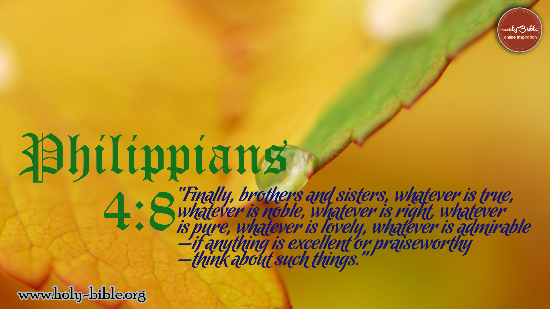 Bible Verse of the day - Philippians 4:8