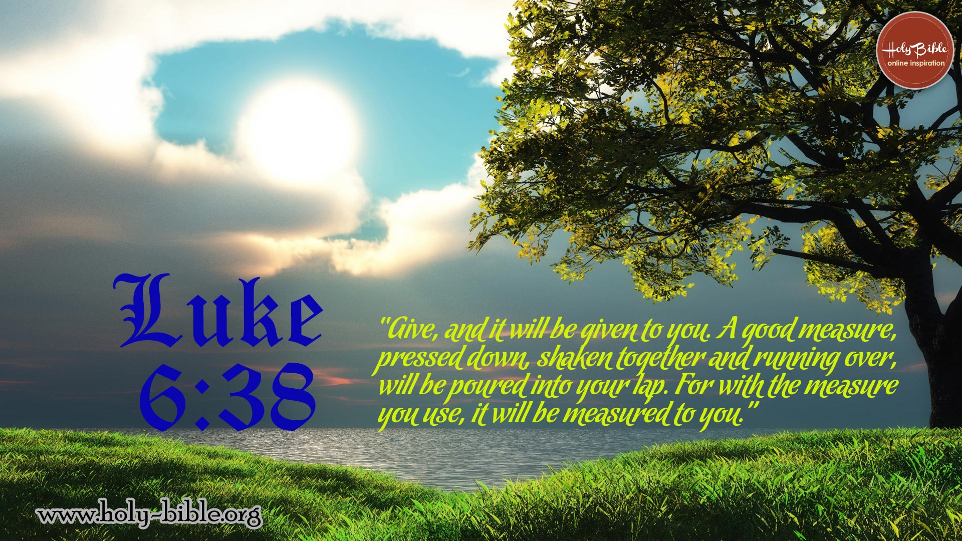 Bible Verse of the day - Luke 6:38