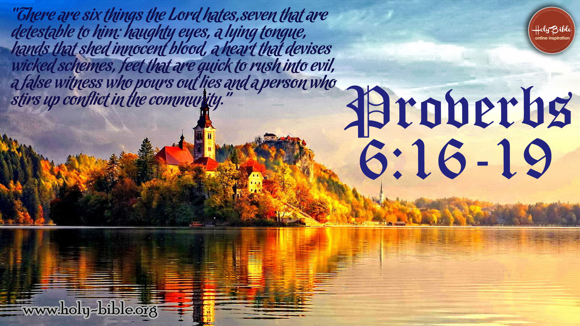 Bible Verse of the day - Proverbs 6:16-19