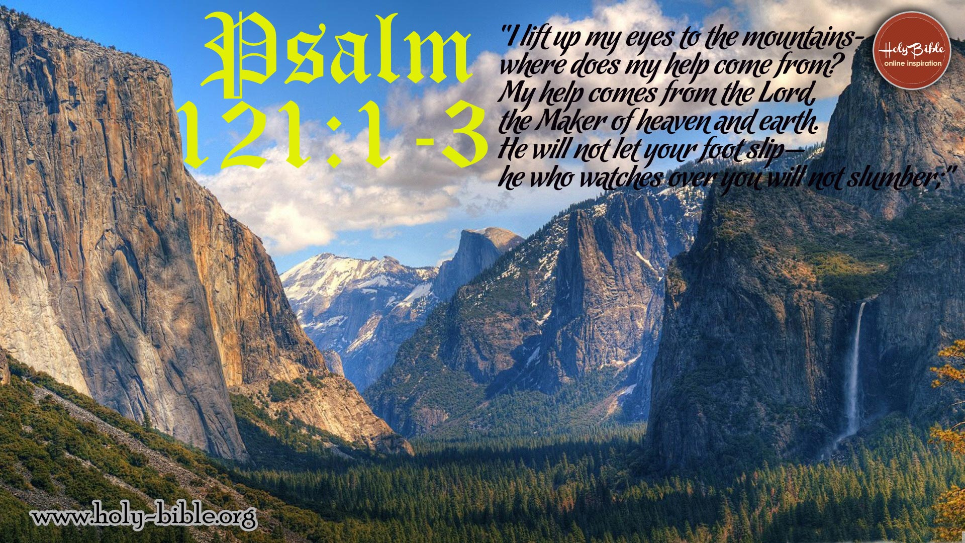 Bible Verse Of the day - Psalm 121:1-3