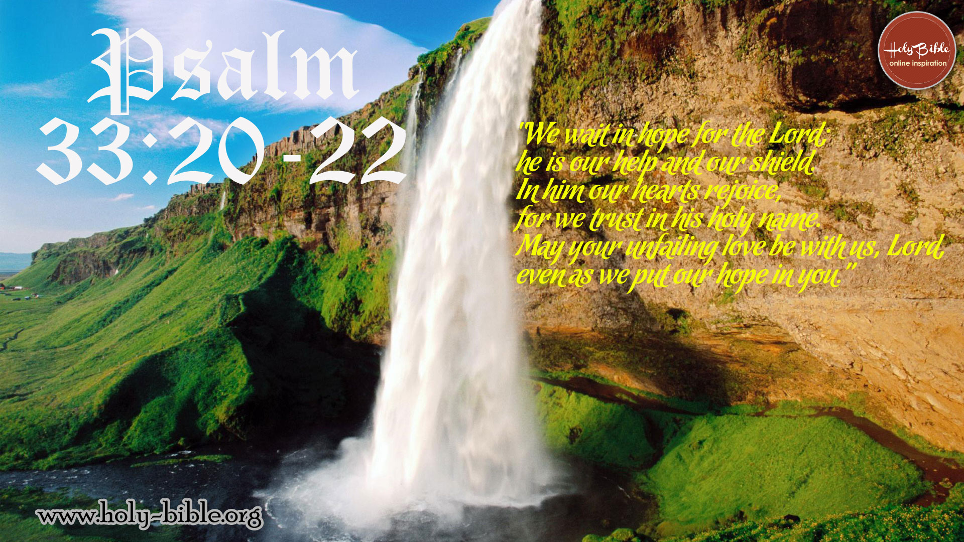 Bible Verse of the day - Psalm 33:20-22