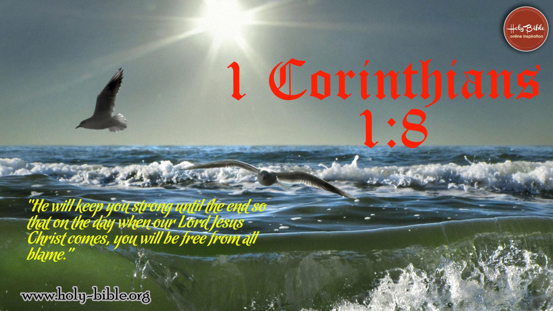 Bible Verse of the day - 1 Corinthians 1:8