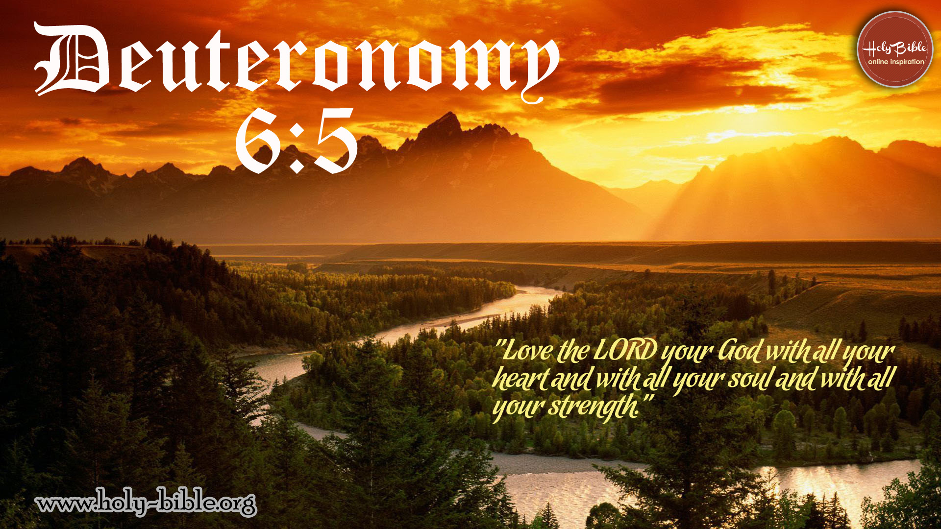 Bible Verse of the day – Deuteronomy 6:5