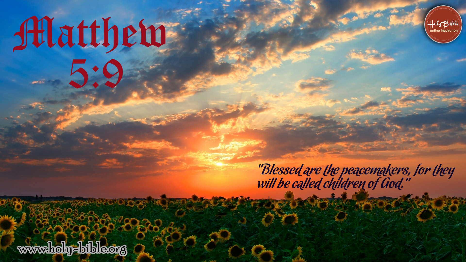 Bible Verse of the day - Matthew 5:9