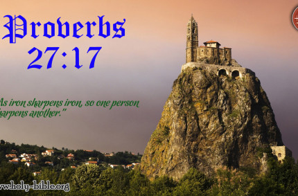Bible Verse of the day – Proverbs 27:17