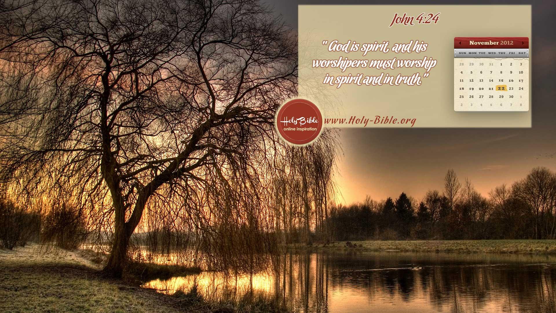 Bible Verse of the day – John 4:24