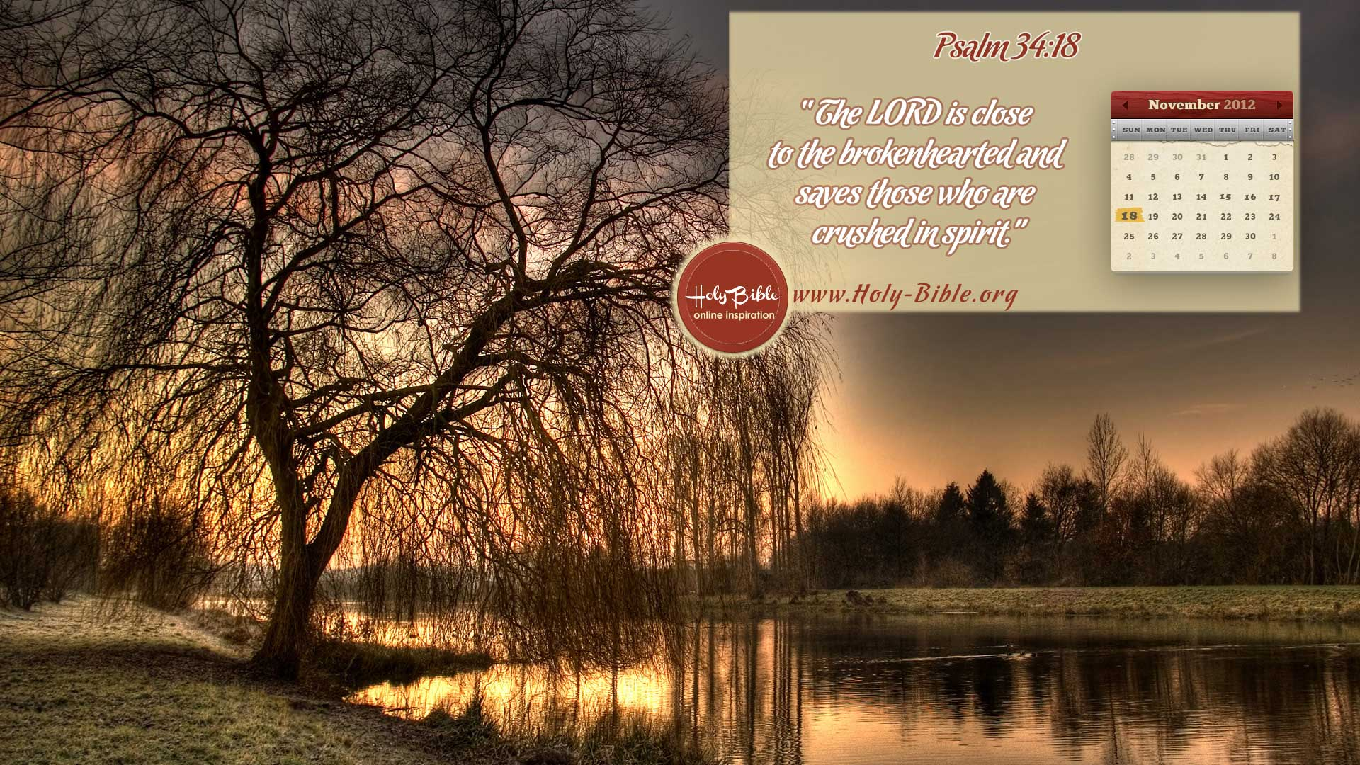 Bible Verse of the day – Psalm 34:18
