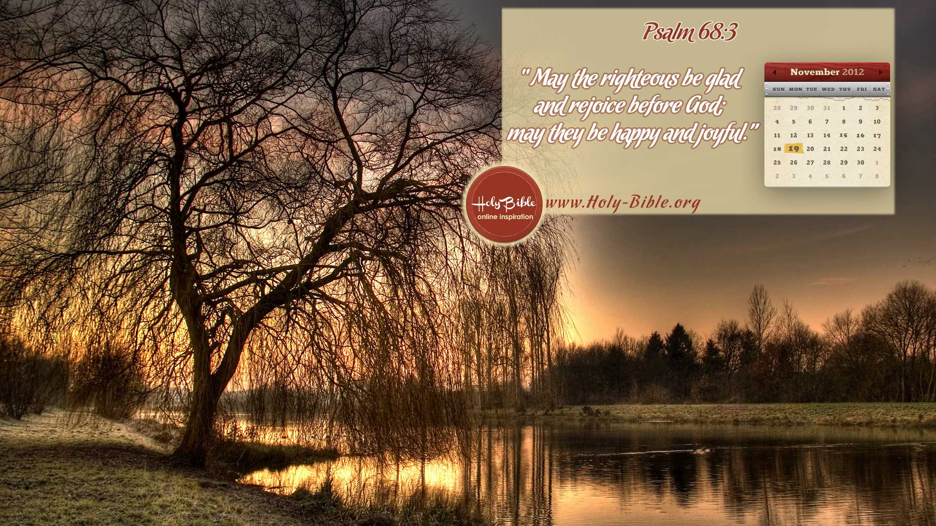 Bible Verse of the day – Psalm 68:3